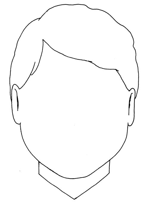 woman blank face colouring pages