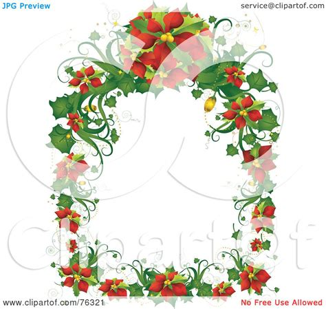 studio decor holiday clip royalty free rf clipart illustration of a poinsettia frame by bnp design studio 76321