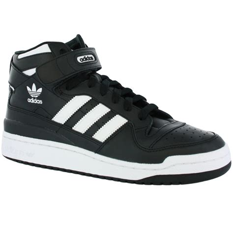 adidas forum mid black white new mens trainers shoes ebay