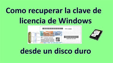 las posturas clave en 8495376849 como recuperar la clave de licencia de windows 8 vista 7 de un disco duro youtube