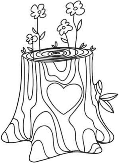 tree stump coloring page tree stump coloring pages