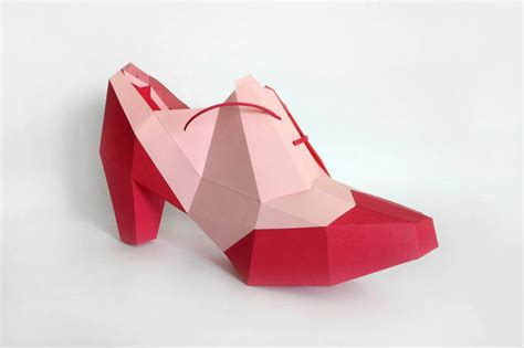high heel shoe template craft papercraft 3d paper craft diy high heels by paperamaze