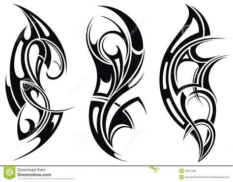 pattern design tattoo set of tattoo patterns stock vector image of ethnic