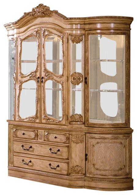 Antique White Buffet And Hutch Tuscany Antique White Wash Finish Hutch And Buffet Cabinet