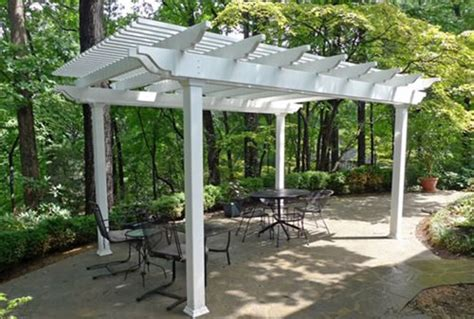 backyard pergola kits vinyl aluminum pergola kits landscaping network