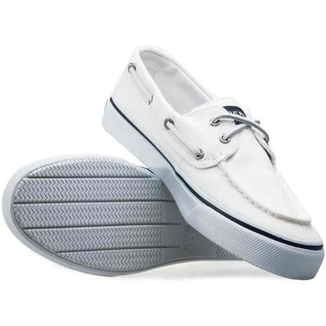 sperry bahama mens boat shoes in white