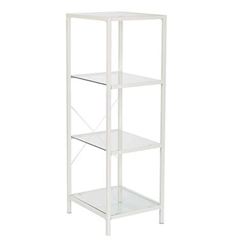 View White 4 Tier Glass Shelf Deals At Big Lots Big Lots Shelves