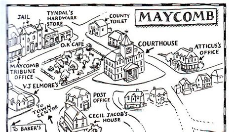maycomb county map with quotes