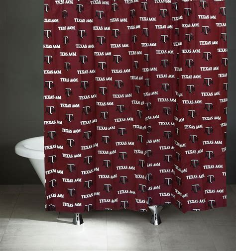 texas a m shower curtain ncaa texas a m aggies shower curtain bathroom decoration
