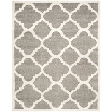 10 x 14 outdoor rug safavieh amherst gray beige 10 ft x 14 ft indoor outdoor area rug amt423r 10 the home depot