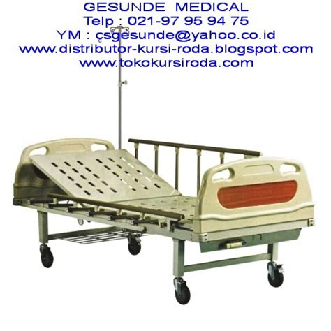 Kursi Roda Manual ranjang rumah sakit hospital bed abs 1 crank manual