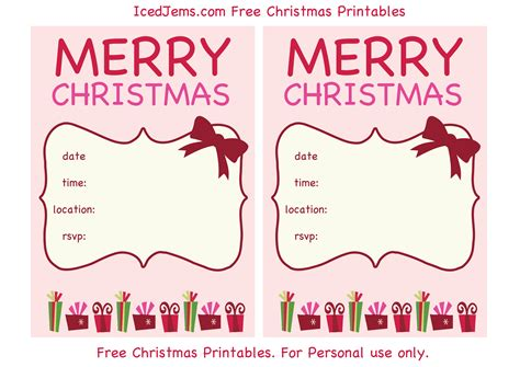 printable xmas party invitations free christmas party printables