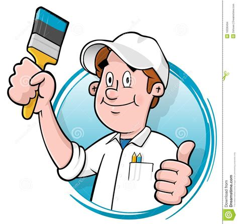 house painter images cartoon house painter logo stock images image 18336494