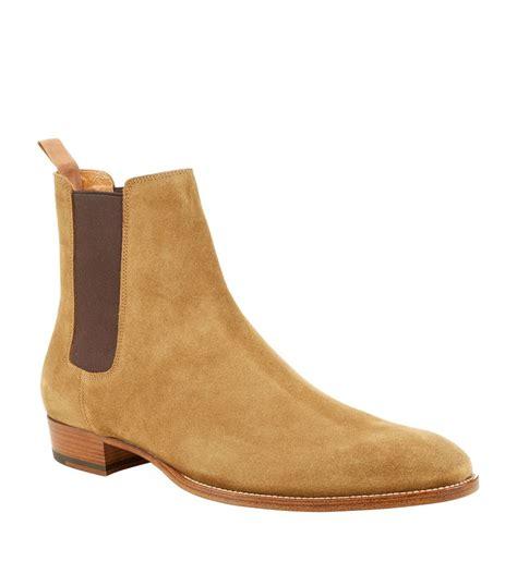 laurent mens chelsea boots laurent eddie suede chelsea boot in brown for lyst