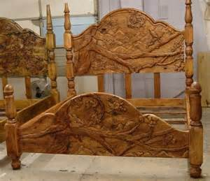 carved custom headboards and footboards this