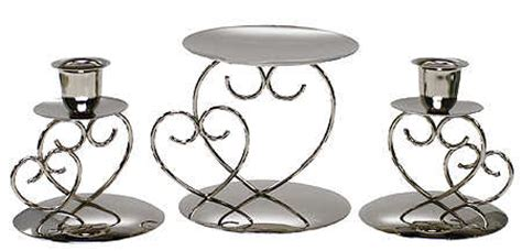Unity Candle Holder Set by Silver Unity Candle Holder Set Wedding Lights Wedding