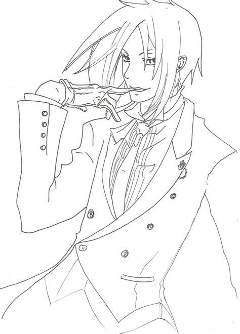 black butler coloring pages sebastian black butler chibi coloring pages sketch