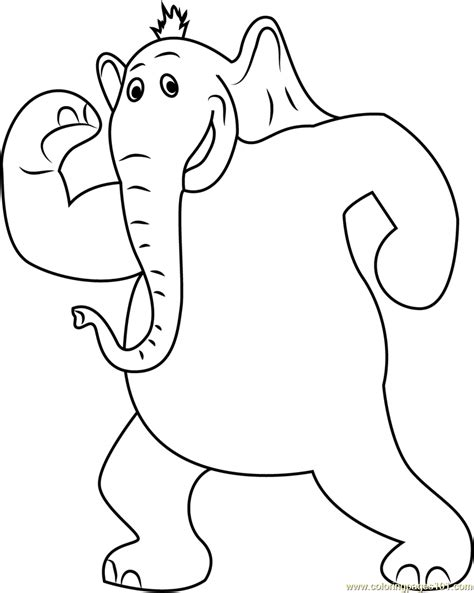 the horton characters coloring pages coloring pages