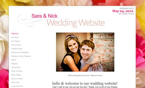Wedding Websites Exles by Personal Wedding Website Exles Wedding Ideas 2018