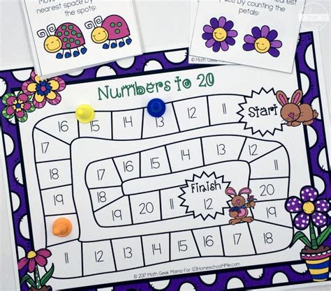 numbers 1 20 printable games free spring counting game numbers 1 20