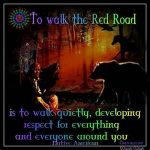 To walk the red road native american red road endless path pinte