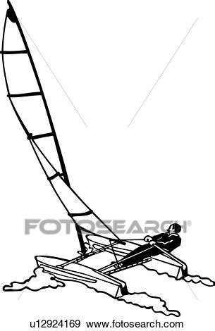 catamaran drawing clip art of boat catamaran sailboat sailing sport
