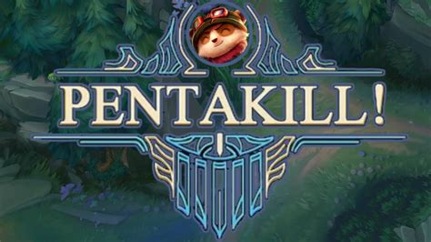 league of legends teemo first penta kill youtube insane teemo pentakill 1v5 pentakills league of legends youtube