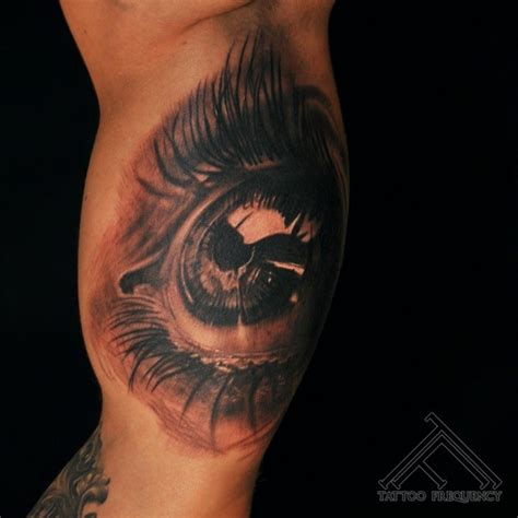 tattoo eyes black black and gray style colored eye of human eye
