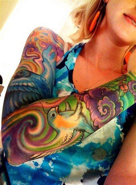 colored arm tattoo bright coloured tattoo sleeve tattoos pinterest