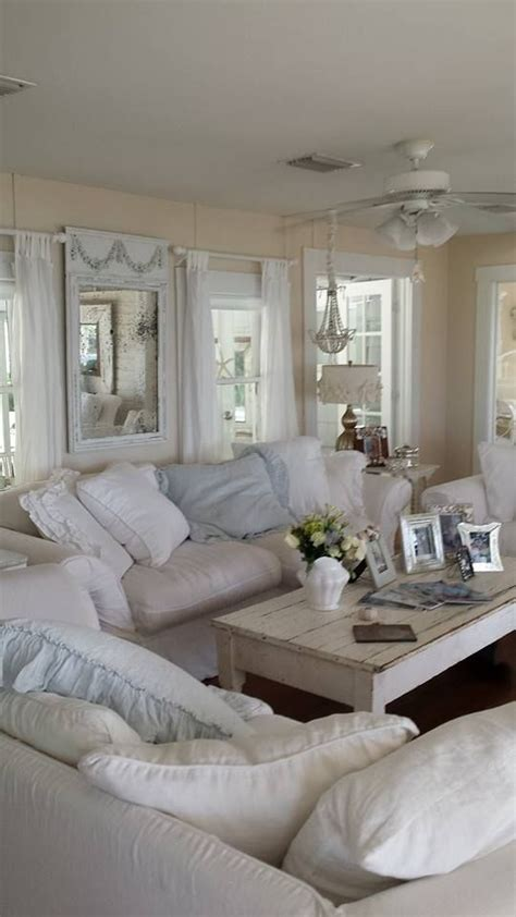 chic living rooms 37 enchanted shabby chic living room designs digsdigs