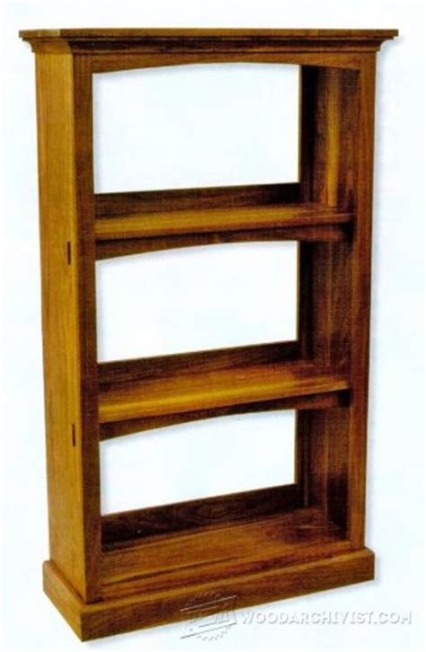 18 mission oak built in bookcase plans woodarchivist