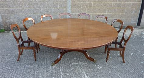 Antique furniture warehouse large round georgian dining table large 7ft diameter round