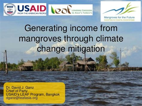 generating income from mangroves through climate change