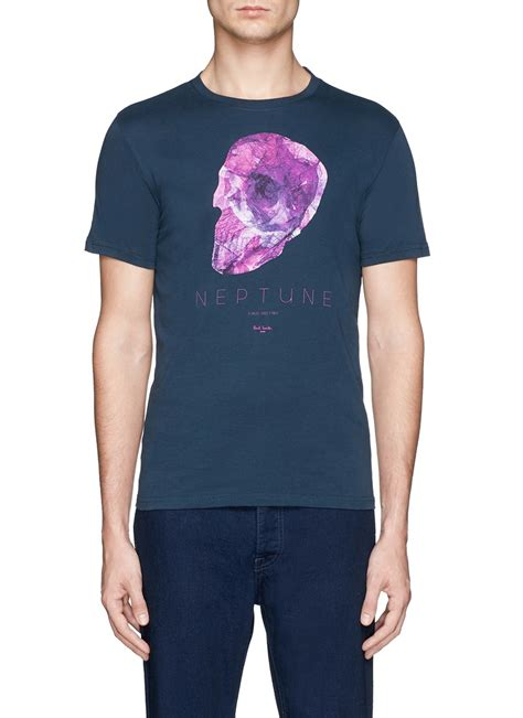 T Shirt And Sons Organic Shirt Printing by Paul Smith Skull Print Organic Cotton T Shirt In Pink For
