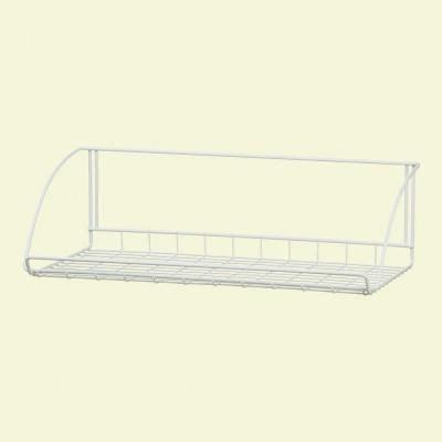 Closetmaid Single Shelf Closetmaid 24 In White Versatile Hanging Shelf 8279 At