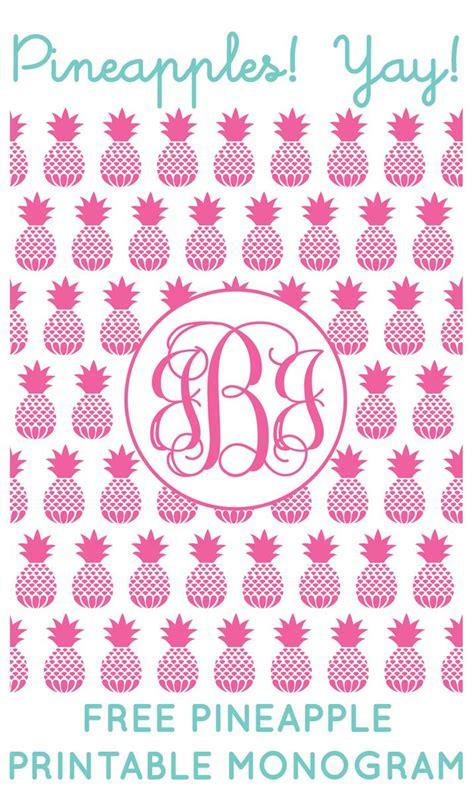 printable font creator free pineapple printable monogram maker from chicfetti