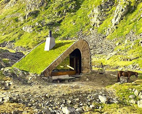 Remote Cabin Living by Tiny Green Roofed Cabin Hides In Remote Mountain Setting Tiny House For Us