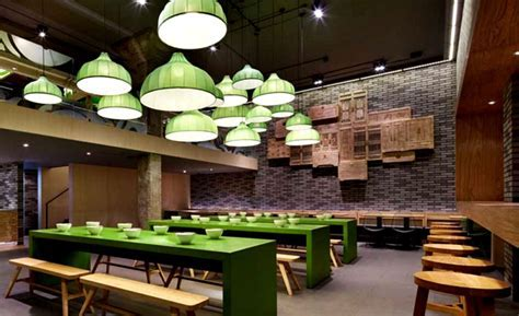 Minimalistic Asian Restaurant with Fresh Green Elements