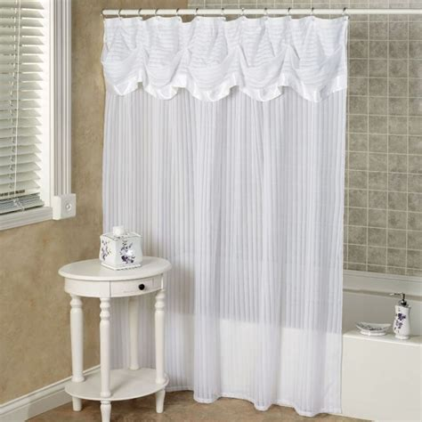 White Valance Curtains Fabric Shower Curtains With Valance Curtain Menzilperde Net