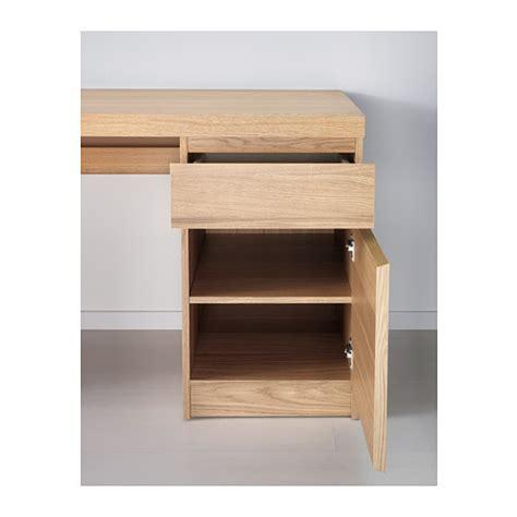 Malm Desk Oak Veneer 140x65 Cm Ikea Oak Veneer Computer Desk