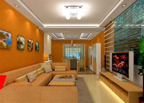 orange walls living room chinese living dining room orange wall