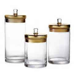 glass canisters with gold silver lids set free shipping jars kitchen storage canister cookie jar coffee