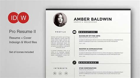 15 Microsoft Word Resume Templates And Cover Letters Free Illustrator Resume Templates