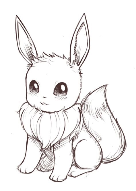 cute pokemon coloring pages eevee sketches eevee by jacya on deviantart