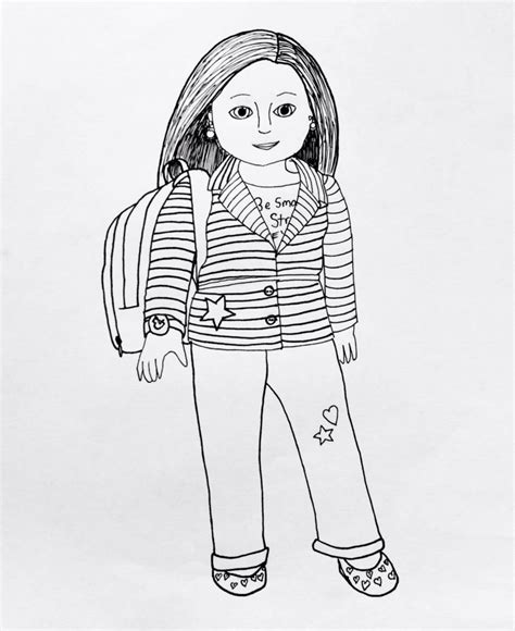 american doll coloring page coloring pages american girl coloring pages to print