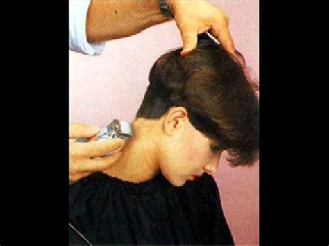 show side back view of the original dorothy hamil haircut long to short wedge haircut youtube