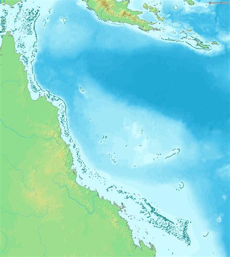 great barrier reef map great barrier reef