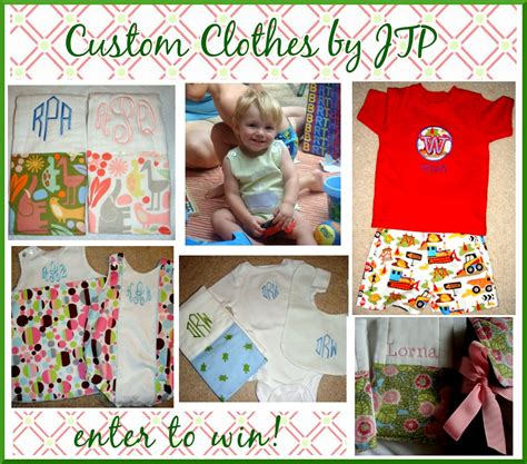 Baby Stuff Giveaways - giveaway custom baby clothes by jtp pizzazzerie