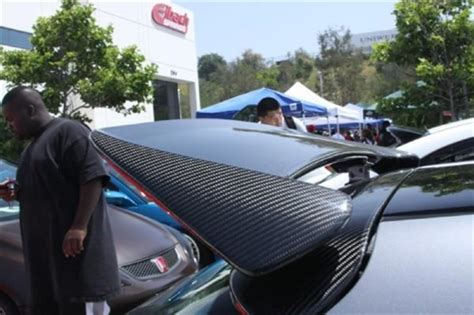 honda   ek civic hatch zeal wing replica carbon fiber