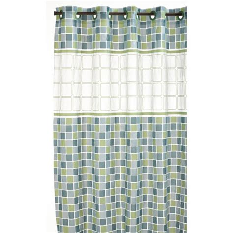 mosaic shower curtain hookless shower curtain mosaic jade in shower curtains
